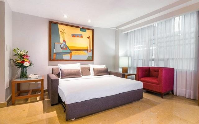 Hotel Eurostars Zona Rosa Suites, espacios acondicionados para tu confort