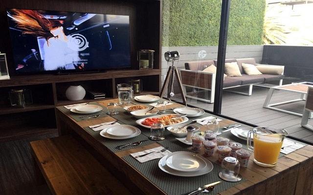 Hotel FlowSuites Condesa, ambiente ideal para tus alimentos