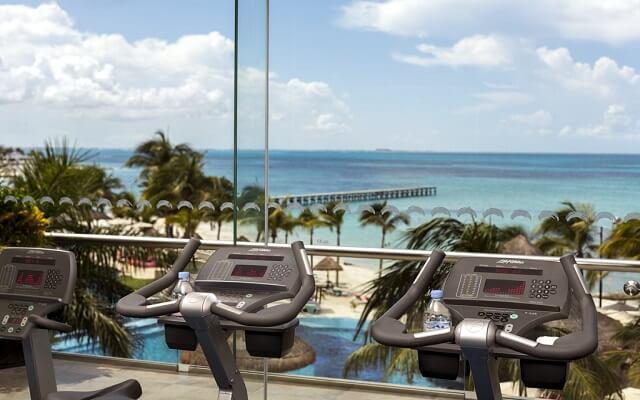 Hotel Grand Fiesta Americana Coral Beach Cancún, gimnasio bien equipado
