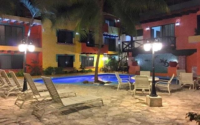Hotel Hacienda María Bonita, linda vista nocturna