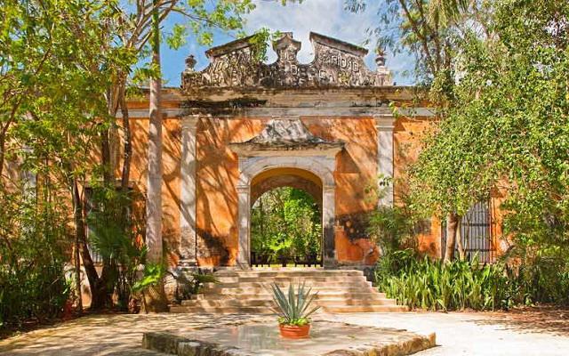 La estructura del hotel es de una tradicional hacienda del siglo XVIII