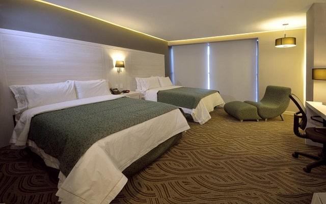 Hotel Holiday Inn Express Pachuca, amplias y acogedoras habitaciones