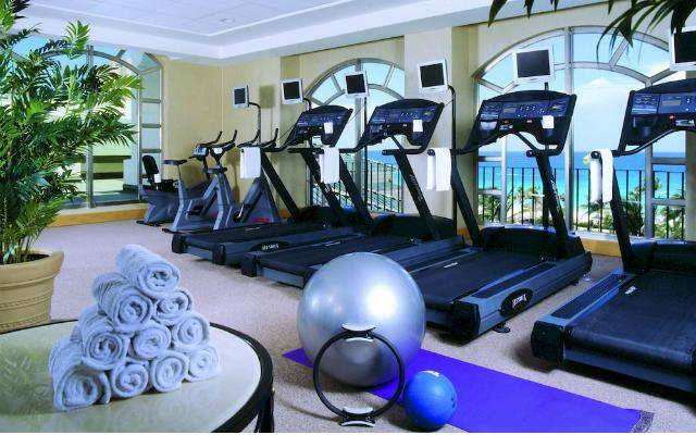 Hotel JW Marriott Cancún Resort and Spa, gimnasio bien equipado