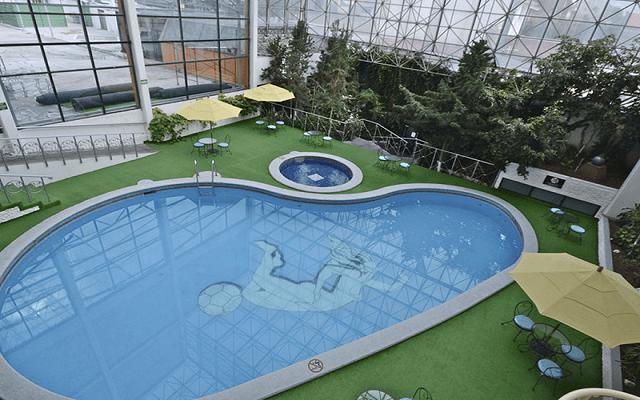 Hotel Krystal Pachuca, alberca climatizada