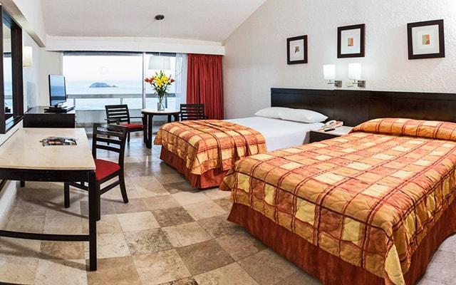 Hotel Krystal Ixtapa, habitaciones bien equipadas