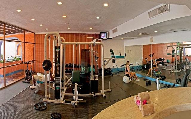 Hotel Los Ángeles Locos, gimnasio bien equipado