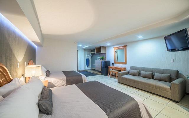 Hotel Malibú, habitaciones luminosas