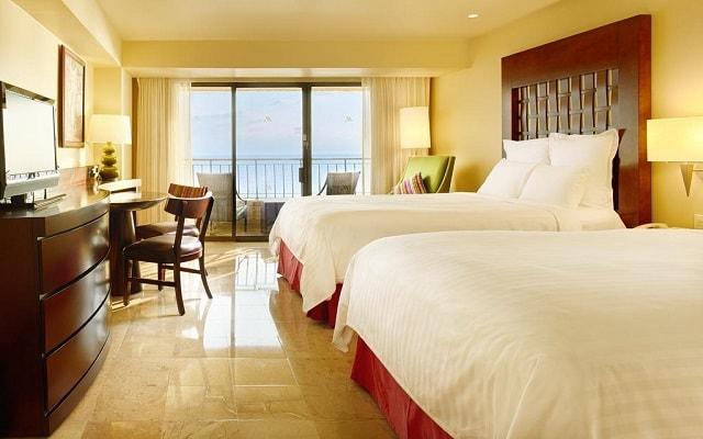 Hotel Marriott Puerto Vallarta Resort & Spa, amplias y luminosas habitaciones