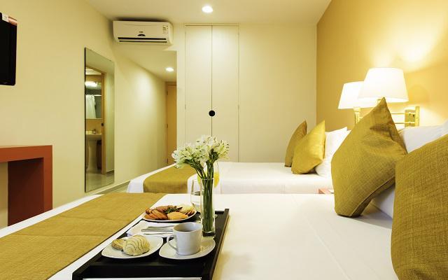 Hotel Misión Express Mérida Altabrisa, amplias y cómodas habitaciones