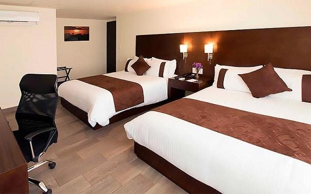 Hotel Misión Express Tampico, amplias y luminosas habitaciones
