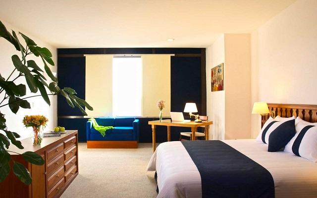 Hotel Misión Guadalajara Carlton, amplias y luminosas habitaciones