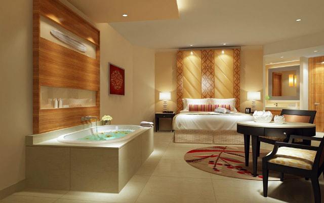 Hotel Moon Palace Cancún, habitaciones con baño de mármol y tina de hidromasaje