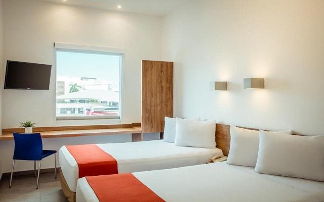 Hotel One Playa del Carmen Centro, amplias y luminosas habitaciones