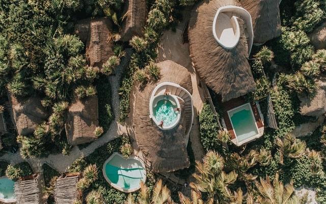 Hotel Papaya Playa, cabañas con alberca privada