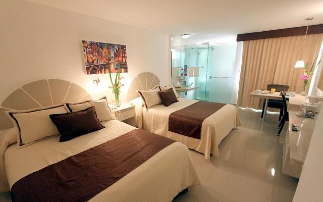 Hotel Plaza Caribe Cancún, amplias y luminosas habitaciones