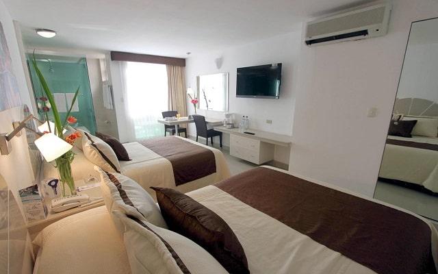 Hotel Plaza Caribe Cancún, habitaciones bien equipadas