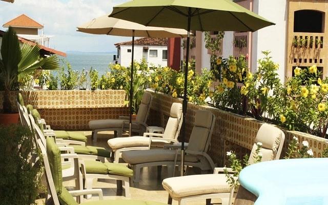 Hotel Porto Alegro, terraza