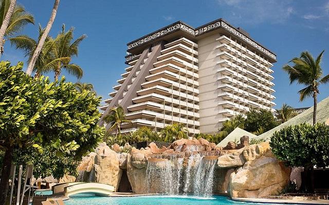 Hotel Princess Mundo Imperial Riviera Diamante Acapulco, hermosa vista de la cascada