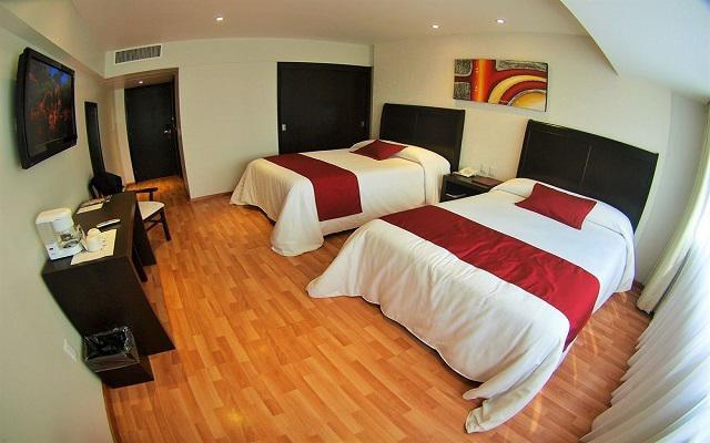 Hotel Roma Guadalajara, habitaciones cómodas y acogedoras