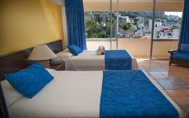 Hotel San Marino Vallarta Centro Beachfront, amplias y luminosas habitaciones