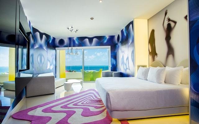 Hotel Temptation Cancún Resort, algunas habitaciones ofrecen vista al mar