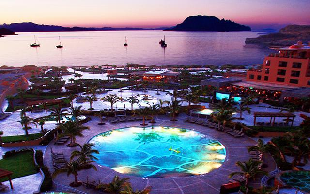 Hotel Villa del Palmar en las Islas Loreto, vistas hermosas