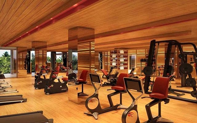 Hotel Xcaret México, gimnasio bien equipado