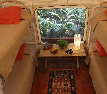 Habitación doble del hotel Okavango