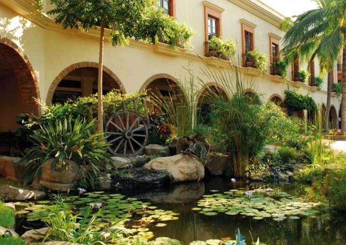 Jardín del hotel Playa Mazatlan