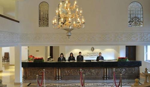 Recepción del hotel Presidente Intercontinental Puebla