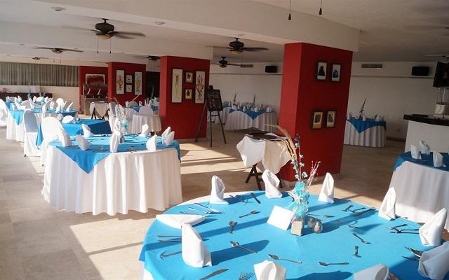 Salón de eventos que ofrece el hotel.