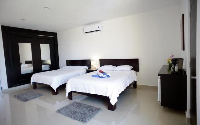 Sunrise 42 Suites Hotel, amplias y luminosas habitaciones