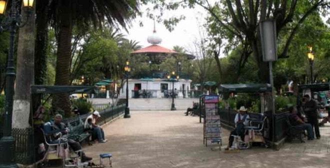 Parque Central de San Cristóbal de las Casas Chiapas