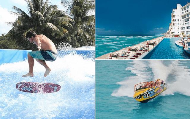 Alberca con olas y tour de aventura + Hotel Bel Air Cancún
