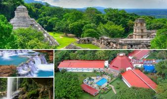 Tour Agua Azul, Misolhá y ruinas Palenque + Hotel Misión Palenque