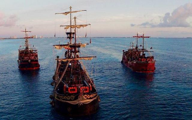 Barco Pirata Cancún Capitán Hook, las embarcaciones son réplicas de galeones españoles