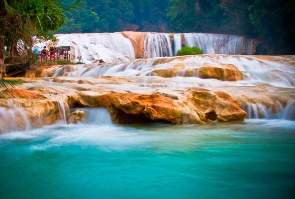Cascadas Agua Azul, Misol há y Ruinas de Palenque en Chiapas