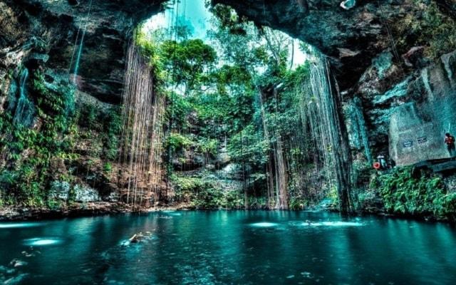 Chichen Itzá Mérida, cenote Ik Kil