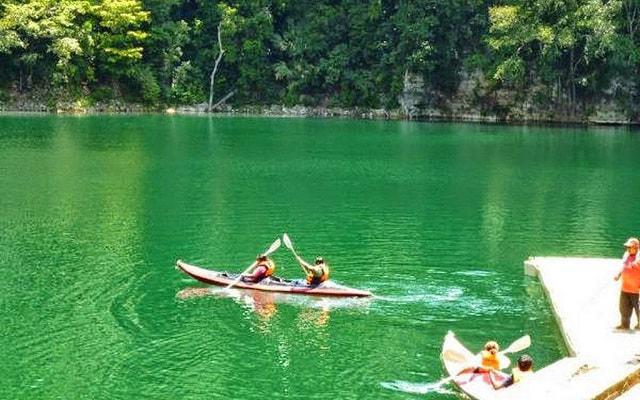 Cenote Miguel Colorado Champotón, podrás navegar en kayaks