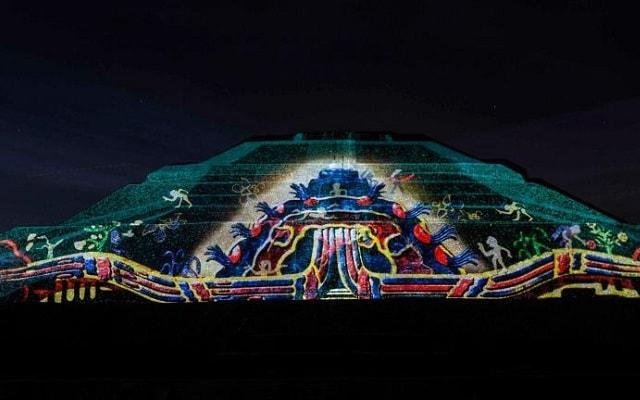 Danza Prehispánica más Visita a Teotihuacán, verás proyecciones multimedia
