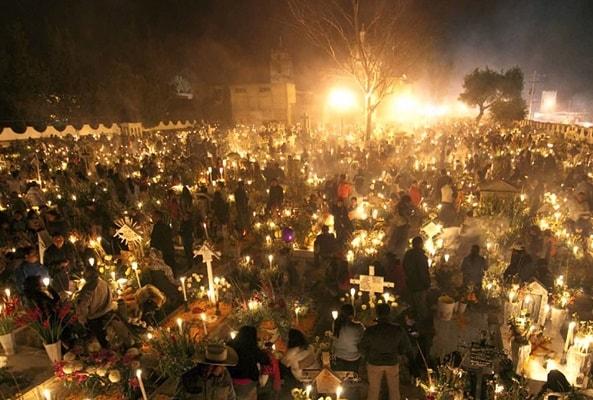 Día de Muertos en San Andrés Mixquic en Ciudad de México
