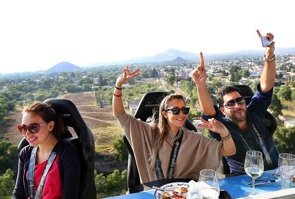 Dinner In The Sky Teotihuacán México en Ciudad de México