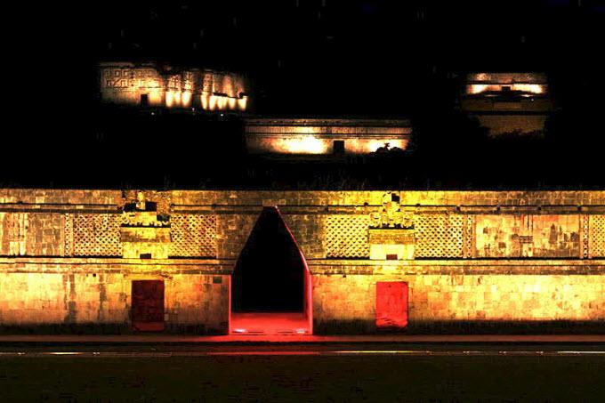 Espectaculo de Luz y Sonido en Uxmal