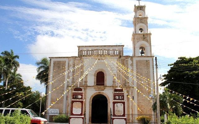 Hecelchakan, Becal y Calkini, Iglesia San Luis Obispo