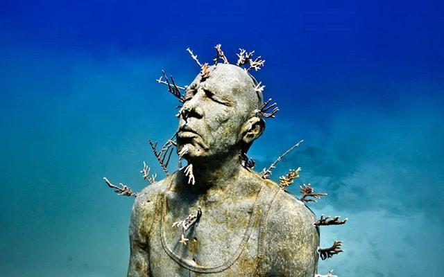 MUSA Cancún, estas esculturas funcionan como arrecifes artificiales