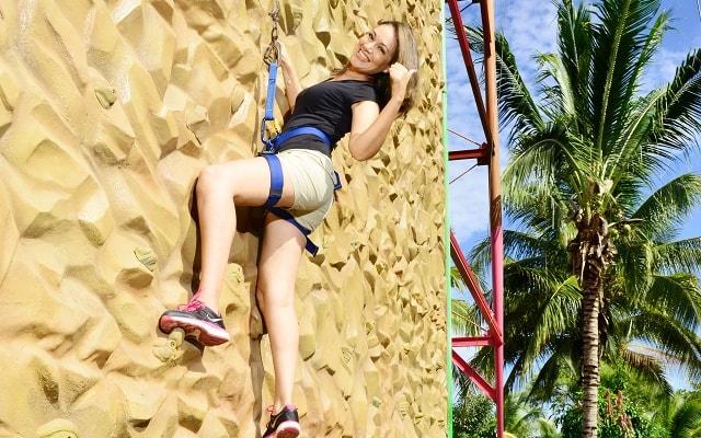 Nado con Delfines Vallarta, opción de muro escalador