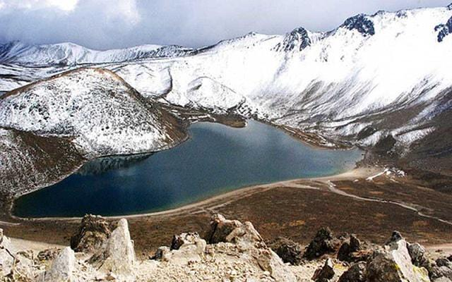 Nevado de Toluca Tour, en algunas temporadas es posible encontrar nieve