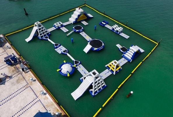 Parque Acuático Inflable Aquaworld en Cancún