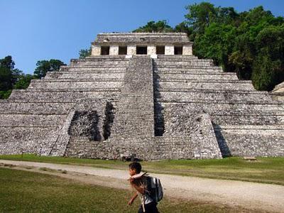 Pirámide en Ruinas de Palenque