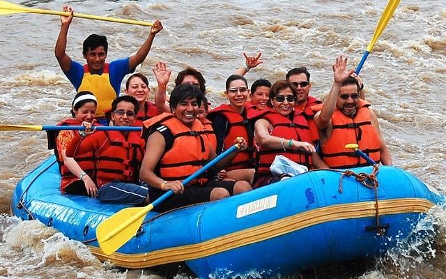Rafting en Rio Copalita Huatulco Nivel 1,  el trabajo en equipo es indispensable